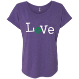 Love Travel Green Globe Women's T-Shirt - The Art Of Travel Store: Travel Accessories, Travel Clothes, Travel Gear