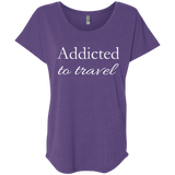 Addicted to Travel Womens T-Shirt - The Art Of Travel Store: Travel Accessories, Travel Clothes, Travel Gear