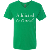Addicted to Travel Men's V-Neck T-Shirt - The Art Of Travel Store: Travel Accessories, Travel Clothes, Travel Gear