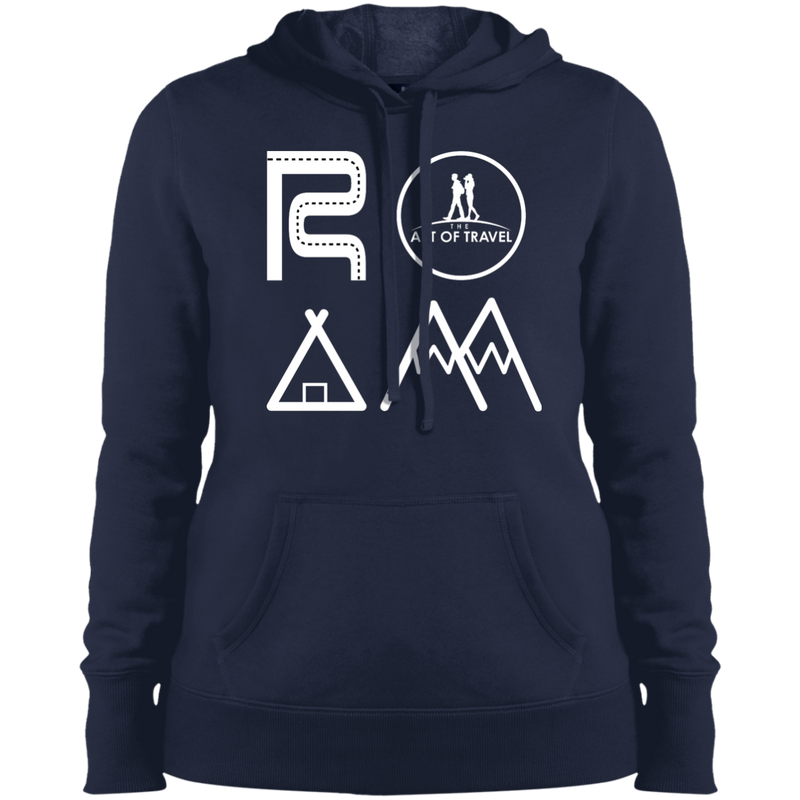 ROAM Ladies Pullover Hooded Sweatshirt - The Art Of Travel Store: Travel Accessories and Travel T-Shirts