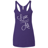 Love Conquers All Women Triblend Tank Top - The Art Of Travel Store: Travel Accessories, Travel Clothes, Travel Gear