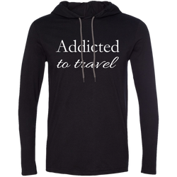 Addicted to Travel Men's T-Shirt Hoodie - The Art Of Travel Store: Travel Accessories and Travel T-Shirts