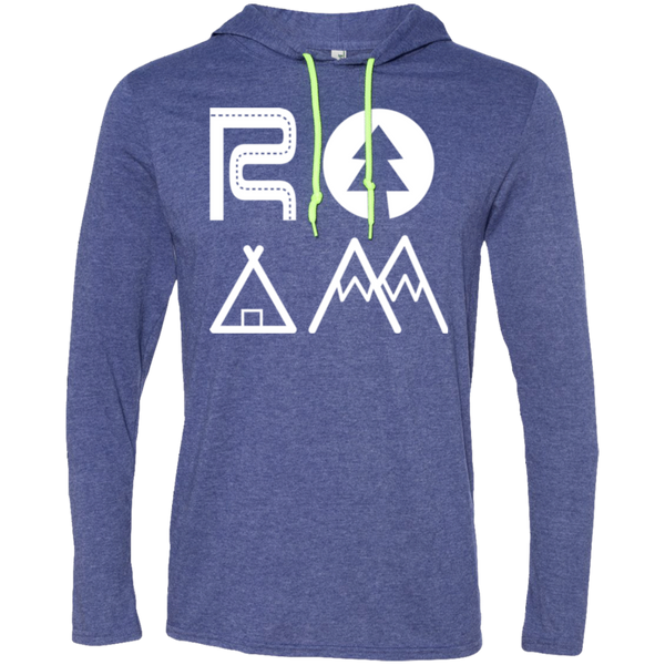 ROAM Wander Men's Travel T-Shirt Hoodie - The Art Of Travel Store: Travel Accessories, Travel Clothes, Travel T-Shirts