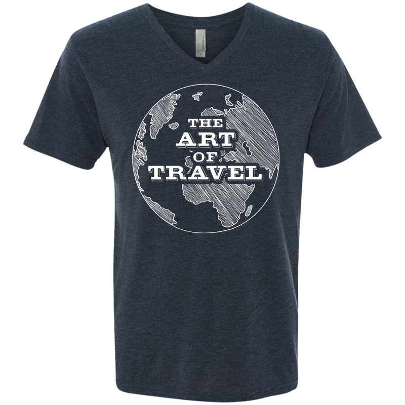 Art of Travel Men's Triblend V-Neck T-Shirt - The Art Of Travel Store: Travel Accessories and Travel T-Shirts