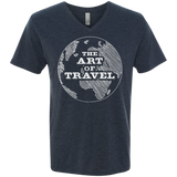 Art of Travel Men's Triblend V-Neck T-Shirt - The Art Of Travel Store: Travel Accessories, Travel Clothes, Travel Gear