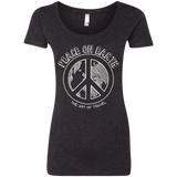 Peace on Earth Womens Travel T-Shirt - The Art Of Travel Store: Travel Accessories, Travel Clothes, Travel Gear