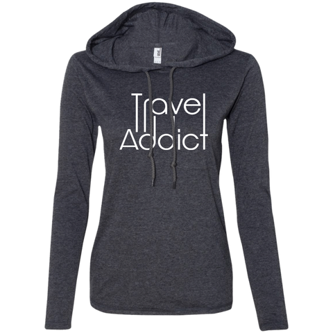 Travel & Tell Stories Ladies' T-Shirt Hoodie - The Art Of Travel Store: Travel Accessories, Travel Clothes, Travel Gear