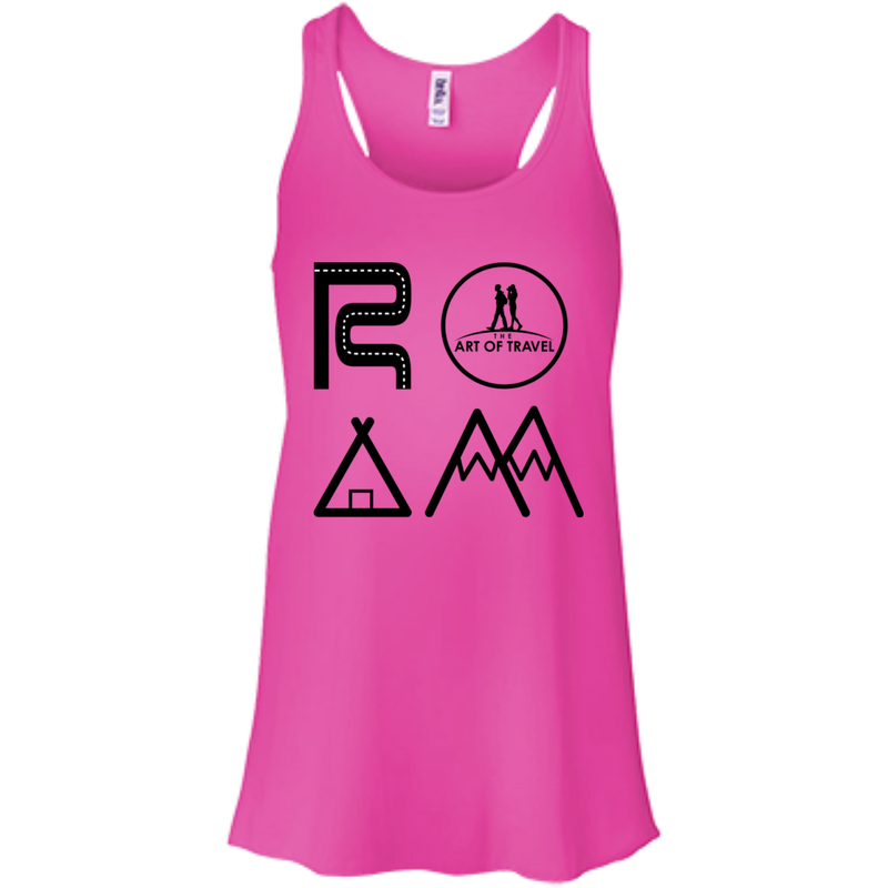 ROAM Free Flowy Racerback Travel Tank - The Art Of Travel Store: Travel Accessories and Travel T-Shirts