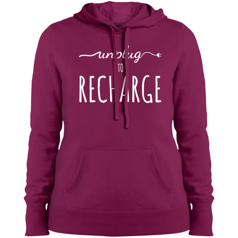 Unplug to Recharge Women Pullover Hooded Sweatshirt - The Art Of Travel Store: Travel Accessories, Travel Clothes, Travel Gear