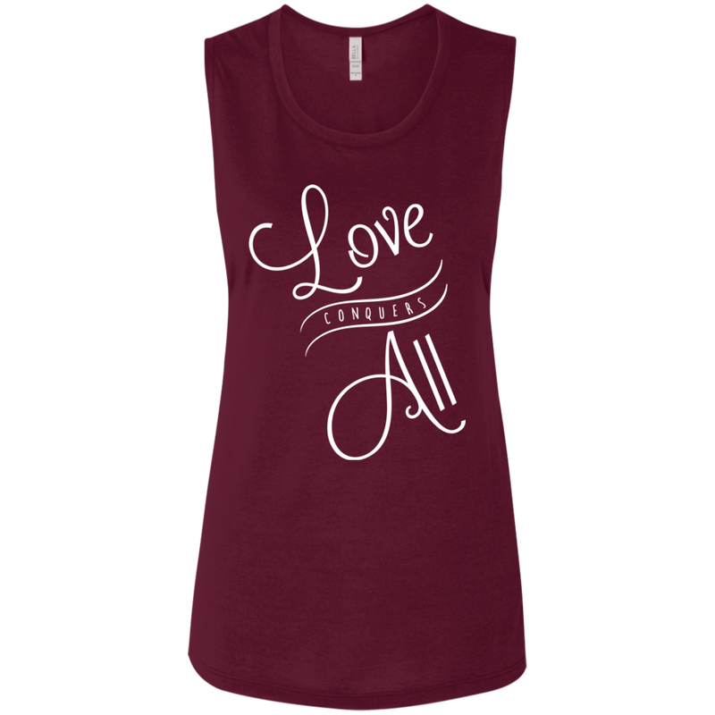 Love Conquers All Ladies' Beach Muscle Tank - The Art Of Travel Store: Travel Accessories and Travel T-Shirts