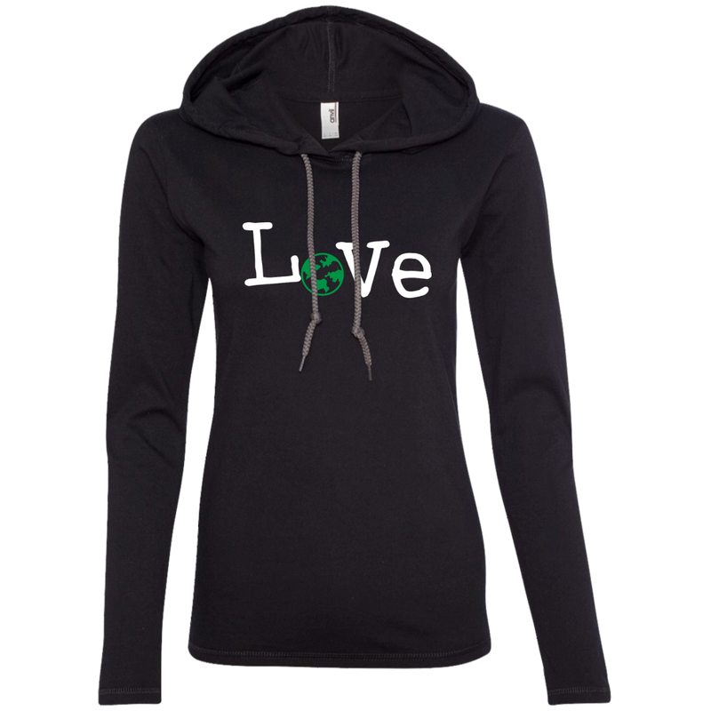 Love Travel Women's Long Sleeve Hooded T-Shirt Hoodie - The Art Of Travel Store: Travel Accessories and Travel T-Shirts