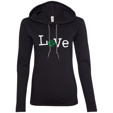 Love Travel Women's Long Sleeve Hooded T-Shirt Hoodie - The Art Of Travel Store: Travel Accessories, Travel Clothes, Travel Gear