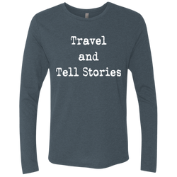 Travel & Tell Stories Men's Long Sleeve T-Shirt - The Art Of Travel Store: Travel Accessories and Travel T-Shirts