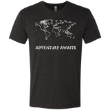 Adventure Awaits Men's World Travel T-Shirt - The Art Of Travel Store: Travel Accessories, Travel Clothes, Travel Gear