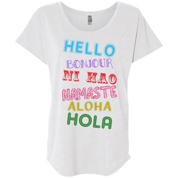 Hello Aloha Women's Travel T-Shirt - The Art Of Travel