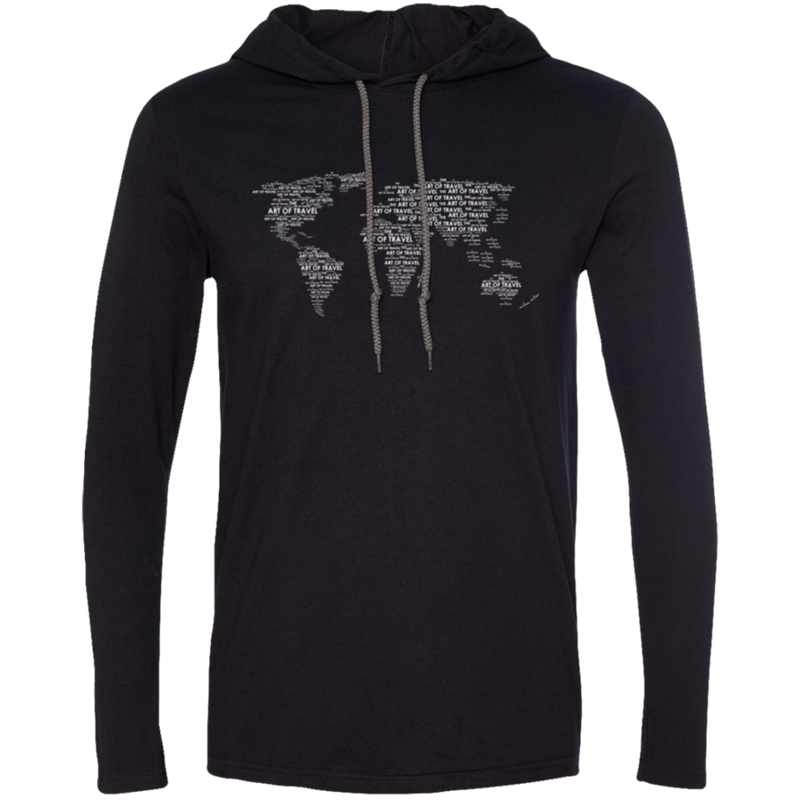 Art of World Travel Men's T-Shirt Hoodie - The Art Of Travel Store: Travel Accessories and Travel T-Shirts