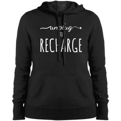 Unplug to Recharge Women Pullover Hooded Sweatshirt - The Art Of Travel Store: Travel Accessories and Travel T-Shirts