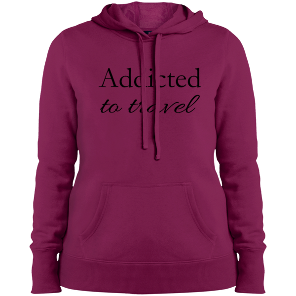 Addicted to Travel Ladies Hooded Pullover Sweatshirt - The Art Of Travel