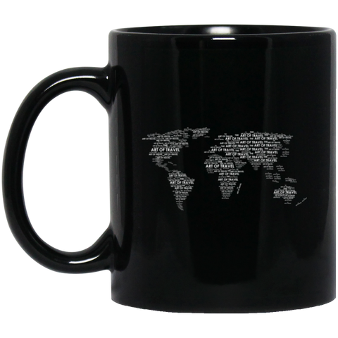 Black Mug 11 oz. - The Art Of Travel Store: Travel Accessories, Travel Clothes, Travel Gear