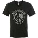 Peace on Earth Men's Travel Triblend V-Neck Tee - The Art Of Travel Store: Travel Accessories, Travel Clothes, Travel Gear