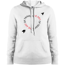 Heart of Travel Ladies Pullover Hooded Sweatshirt - The Art Of Travel