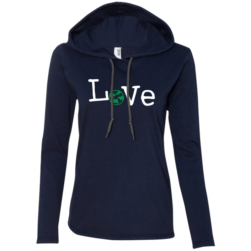 Love Travel Women's Long Sleeve Hooded T-Shirt Hoodie - The Art Of Travel