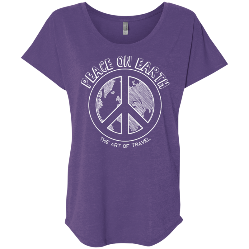Peace on Earth Womens Travel T-Shirt - The Art Of Travel Store: Travel Accessories and Travel T-Shirts