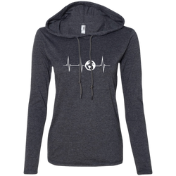 Heartbeat Globe Travel Women's Hooded T-Shirt Hoodie - The Art Of Travel