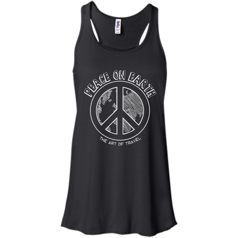 Peace on Earth Women's Racerback Travel Tank - The Art Of Travel