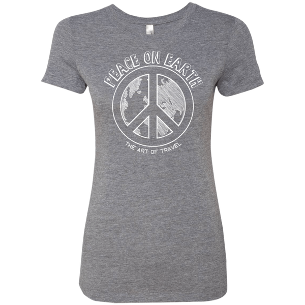 Peace on Earth Womens Travel T-Shirt - The Art Of Travel
