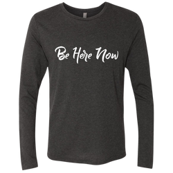 Be Here Now Present In Moment Men's Long Sleeve T-Shirt - The Art Of Travel Store: Travel Accessories and Travel T-Shirts