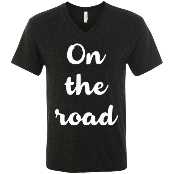 On the Road Men's Triblend V-Neck T-Shirt - The Art Of Travel Store: Travel Accessories, Travel Clothes, Travel Gear