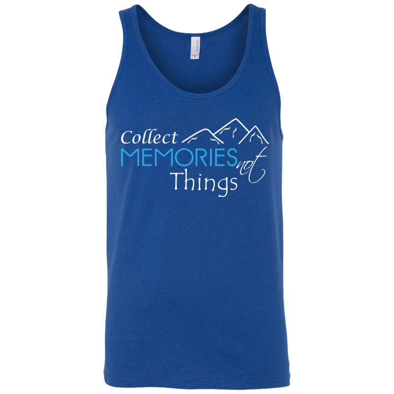 Collect Memories Not Things Men's Travel Tank - The Art Of Travel Store: Travel Accessories and Travel T-Shirts