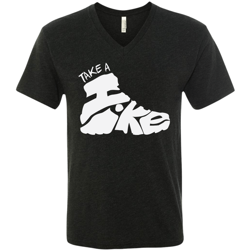 Hiking Travel Men's V-Neck T-Shirt - The Art Of Travel