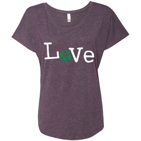 Love Travel Green Globe Women's T-Shirt