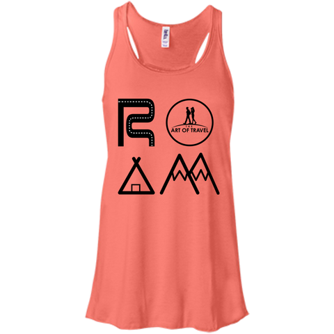 ROAM Free Flowy Racerback Travel Tank - The Art Of Travel Store: Travel Accessories, Travel Clothes, Travel Gear