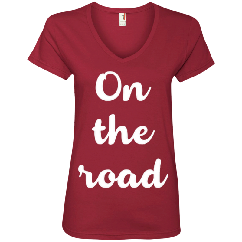 On The Road Women's Travel T-Shirt - The Art Of Travel Store: Travel Accessories and Travel T-Shirts