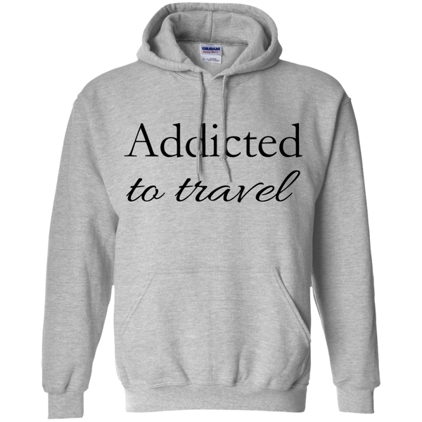 Addicted to Travel Men's Pullover Hoodie - The Art Of Travel