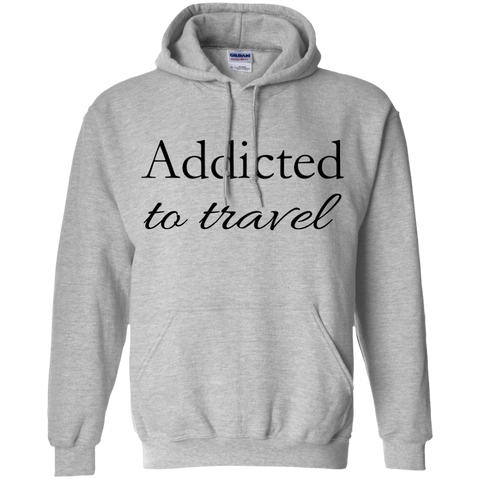 Addicted to Travel Men's Pullover Hoodie - The Art Of Travel Store: Travel Accessories, Travel Clothes, Travel Gear