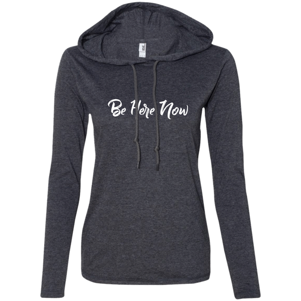 Be Here Now Ladies' T-Shirt Hoodie - The Art Of Travel Store: Travel Accessories and Travel T-Shirts