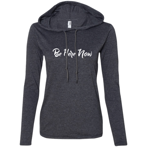Be Here Now Ladies' T-Shirt Hoodie - The Art Of Travel Store: Travel Accessories, Travel Clothes, Travel Gear