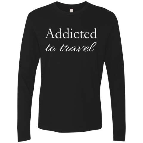 Addicted To Travel Men's Long Sleeve T-Shirt - The Art Of Travel Store: Travel Accessories, Travel Clothes, Travel Gear