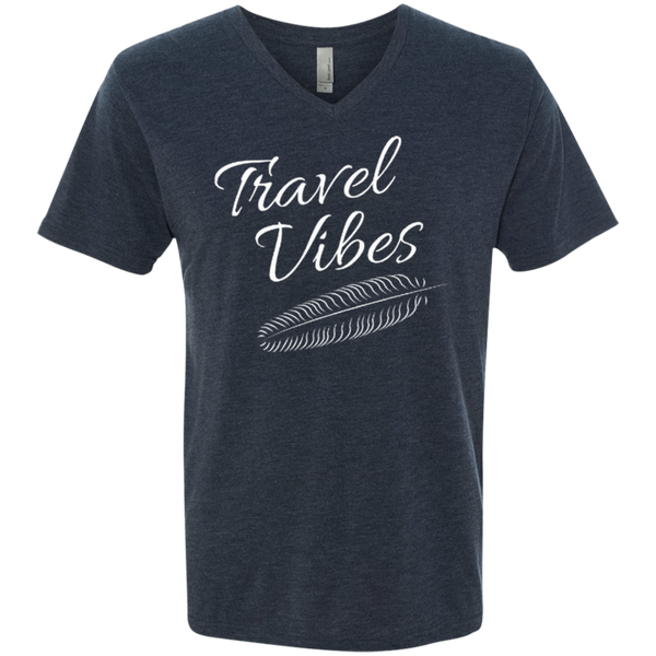 Travel Vibes Men's V-Neck T-Shirt - The Art Of Travel Store: Travel Accessories and Travel T-Shirts