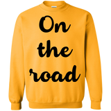 On the Road Men's Crewneck Pullover Sweatshirt - The Art Of Travel Store: Travel Accessories, Travel Clothes, Travel Gear
