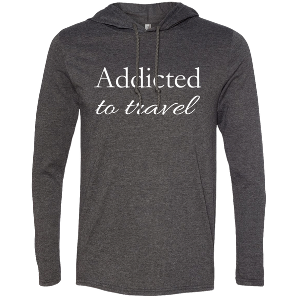 Addicted to Travel Men's T-Shirt Hoodie - The Art Of Travel Store: Travel Accessories, Travel Clothes, Travel T-Shirts