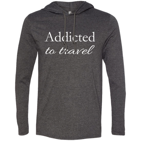 Addicted to Travel Men's T-Shirt Hoodie - The Art Of Travel Store: Travel Accessories, Travel Clothes, Travel Gear