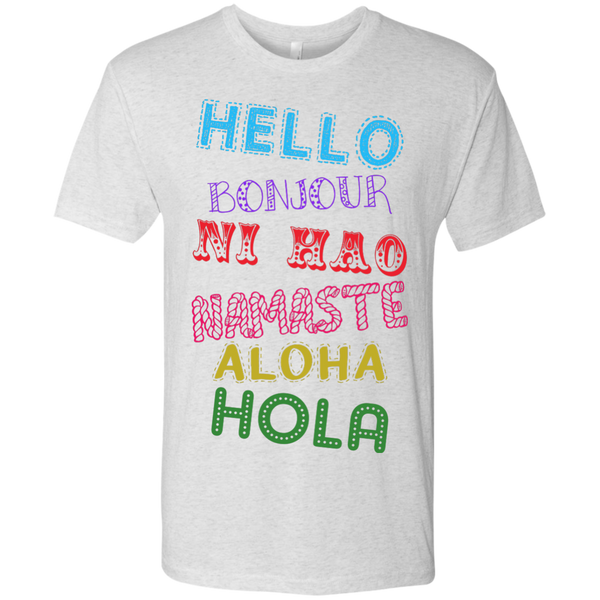 Hello Aloha Men's Travel T-Shirt - The Art Of Travel Store: Travel Accessories and Travel T-Shirts