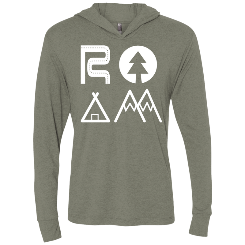 ROAM Adventure Travel Camping Hooded T-Shirt Hoodie - The Art Of Travel Store: Travel Accessories and Travel T-Shirts