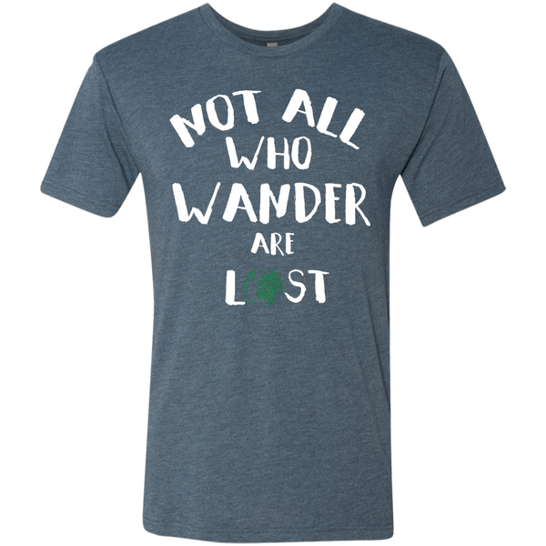 Not All Who Wander Are Lost Men's Travel Tee - The Art Of Travel Store: Travel Accessories and Travel T-Shirts