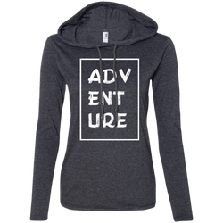 Adventure Travel Ladies' T-Shirt Hoodie - The Art Of Travel Store: Travel Accessories and Travel T-Shirts